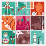 Traditional symbols of Russia Stock Images