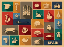 Traditional symbols of Spain Royalty Free Stock Images