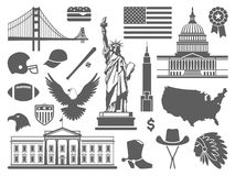 Traditional symbols of the USA Royalty Free Stock Photos
