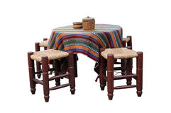 Traditional table and chair Royalty Free Stock Images