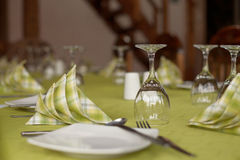 Traditional table setting Stock Photography