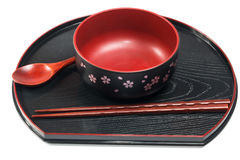 Traditional tableware of Japan Stock Image