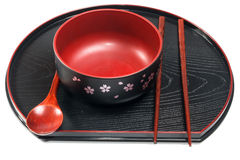 Traditional tableware of Japan Stock Images