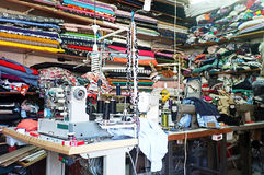 Traditional tailor workshop Stock Photo
