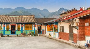 Traditional taiwanese brick houses close to Ershui. In Taiwan Royalty Free Stock Images