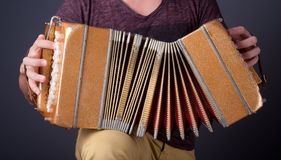 Traditional tango bandoneon, Argentina. Royalty Free Stock Photography