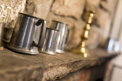 Traditional tankard in an English pub or public house Royalty Free Stock Photo