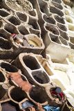 Traditional tannery iin Fez, Morocco Stock Image