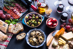 Traditional tapas selection Royalty Free Stock Photography