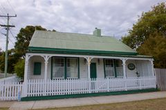 Traditional Tasmanian home Georgetown. An old traditional wooden built home in Georgetown, Tasmania, Australia built in the 1800s royalty free stock image
