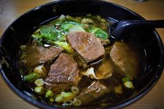 Beef noodle soup niuroumian in Taiwan royalty free stock photos