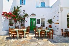 Traditional tavern at Apollonia Sifnos Greece royalty free stock photo