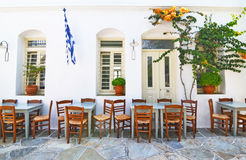 Traditional tavern Sifnos Greece stock images