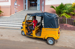 Traditional taxi at Hell Ville, Nosy Be Island Royalty Free Stock Image