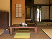 Traditional Tea Ceremony. Traditional Japanese Tea Ceremony interior Royalty Free Stock Photos
