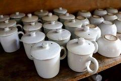 Traditional tea cups Stock Photos