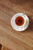 Traditional tea on wooden cafe table Royalty Free Stock Photo
