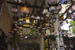 Traditional teahouse decoration in Istanbul Royalty Free Stock Images