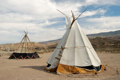 Traditional teepee. A conical tent used by native Americans royalty free stock images