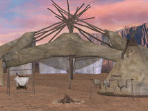 Traditional teepee village Stock Photography