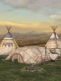 Traditional teepee village Royalty Free Stock Photo