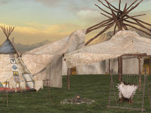 Traditional teepee village Royalty Free Stock Image