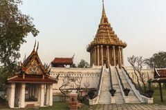 Traditional temple in ancient city near Bangkok, Thailand Royalty Free Stock Photo
