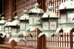 Traditional Temple Lanterns Stock Image