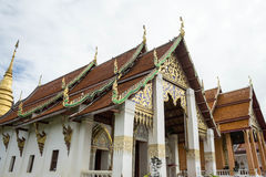 Traditional temple in north of Thailand stock photos