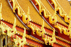 Traditional temple roof tilt Royalty Free Stock Photos