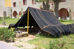 Traditional tent in Tunisia Stock Photo