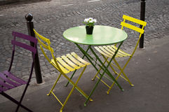Traditional terrace in Paris Stock Images