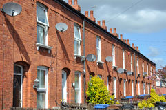 Traditional Terraced Houses Royalty Free Stock Images
