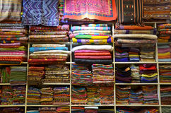Traditional textile for sale in Thailand Royalty Free Stock Images
