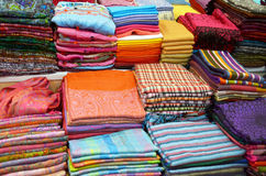 Traditional textile in Thailand royalty free stock photo