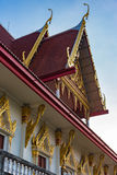 Traditional Thai architecture. Details. Roof and window decoration Royalty Free Stock Photography