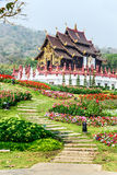 Traditional thai architecture in the Lanna style , Royal Pavilio Stock Photography