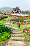 Traditional thai architecture in the Lanna style , Royal Pavilio Royalty Free Stock Image