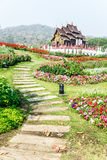 Traditional thai architecture in the Lanna style , Royal Pavilio Royalty Free Stock Photography