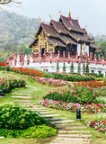 Traditional thai architecture in the Lanna style , Royal Pavilio Royalty Free Stock Photos
