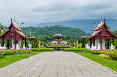 Traditional thai architecture in the Lanna style , Royal Pavilio Stock Images