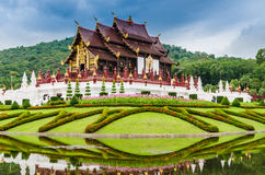 Traditional thai architecture in the Lanna style , Royal Pavilio Royalty Free Stock Images