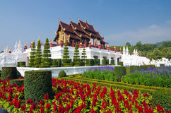 Traditional thai architecture in the Lanna style Royalty Free Stock Photography