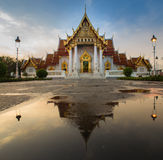 Traditional Thai architecture, Marble Temple name Wat Benjamaborphit Stock Photography