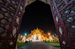 Traditional Thai architecture, Wat Benjamaborphit or Marble Temp Stock Images