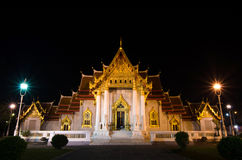Traditional Thai architecture, Wat Benjamaborphit or Marble Temp Royalty Free Stock Images