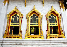 Traditional Thai architecture, Wat Benjamaborphit Stock Photos