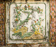 Traditional Thai art of painting on cement Royalty Free Stock Image