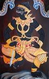 Traditional Thai art painting in Wat Phra Kaew. Bangkok Thailand Stock Photo