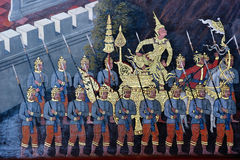 Traditional Thai art painting in Wat Phra Kaew Stock Photography